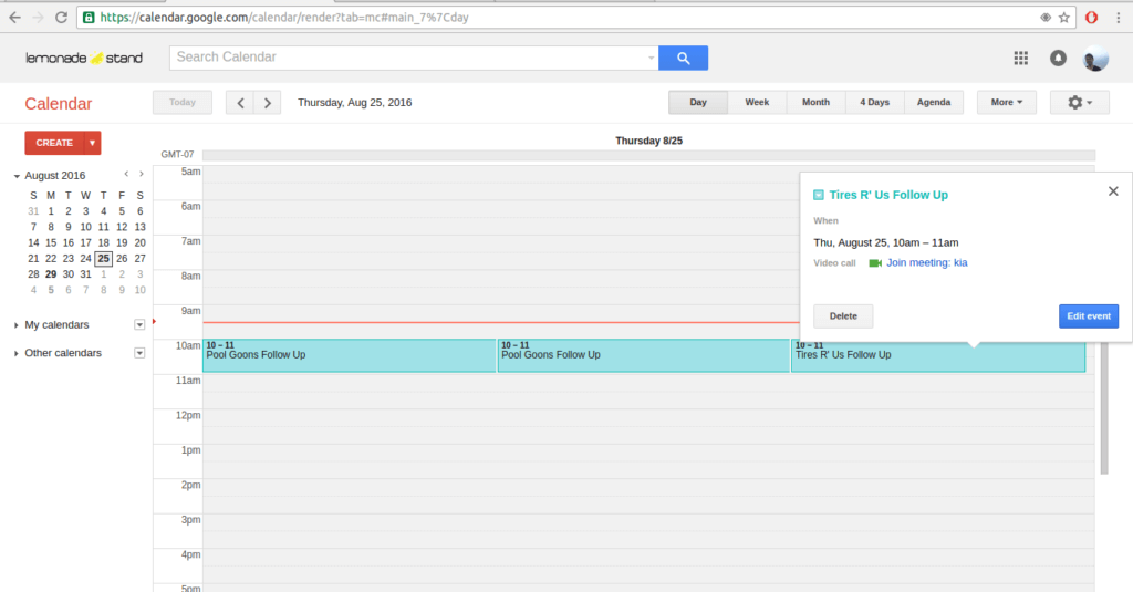 Yalla Google Calendar Integration 6