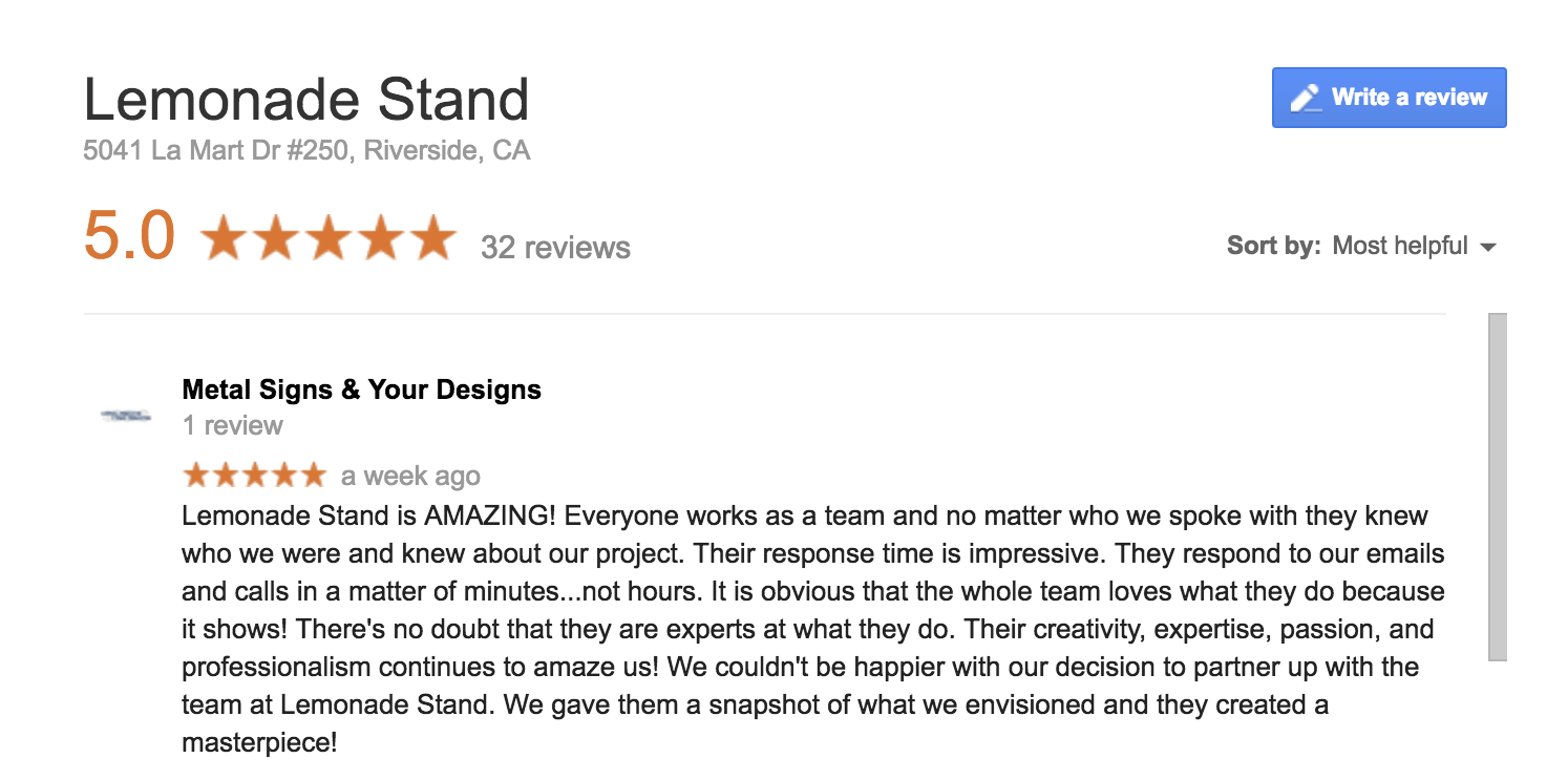 Lemonade Stand Reviews