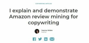 Amazon Review Mining Tutorial by Joanna Wiebe